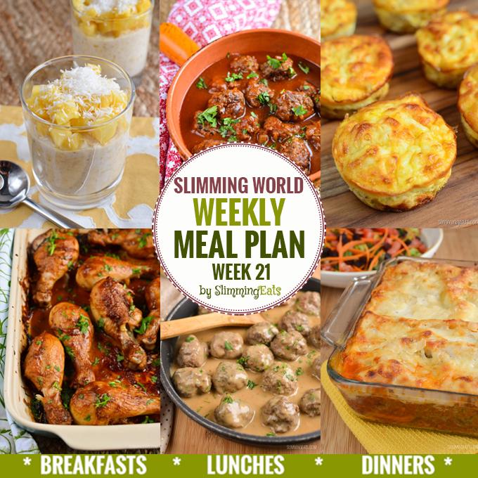 Slimming Eats Weekly Meal Plan – Week 21