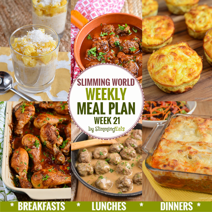 Slimming Eats Weekly Meal Plan - Week 21 - Slimming World recipes - taking the work out of meal planning, so that you can just cook and enjoy the food