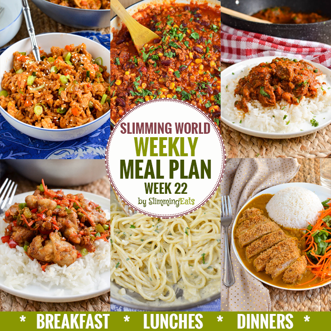 Slimming Eats Weekly Meal Plan - Week 22 - Slimming World recipes - taking the work out of planning, so that you can just cook and enjoy the food.