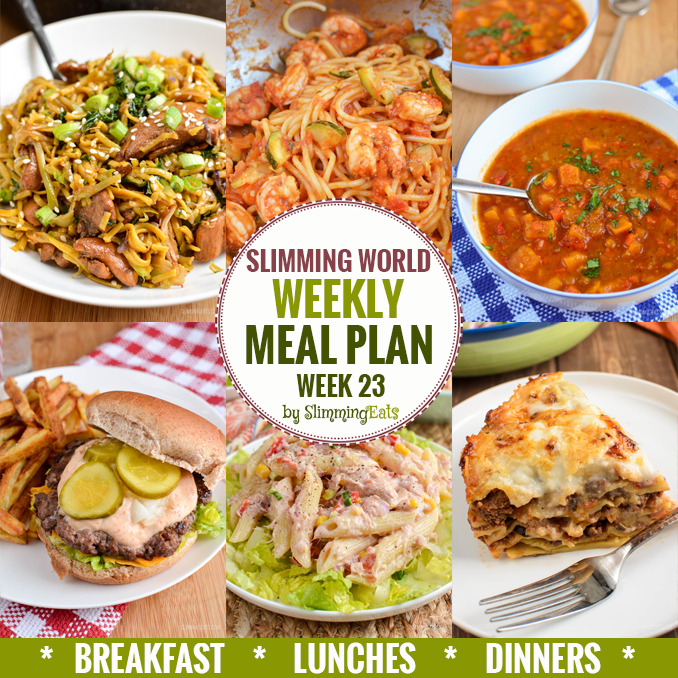 Slimming eats weekly meal plan week 23 slimming eats Where can i buy slimming world products