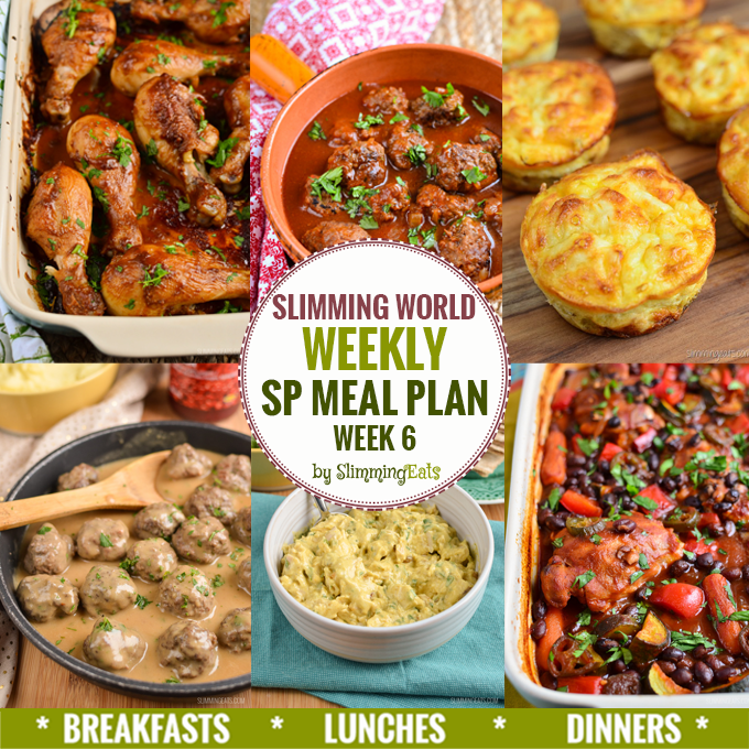 Slimming eats sp weekly meal plan week 6 slimming world recipes Slimming world meal ideas