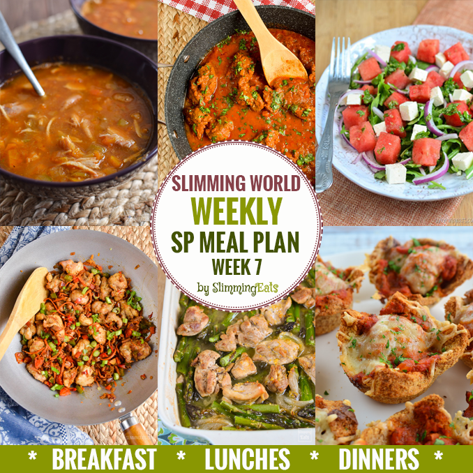 Sp slimming world weekly meal plans slimming eats Slimming world meal ideas