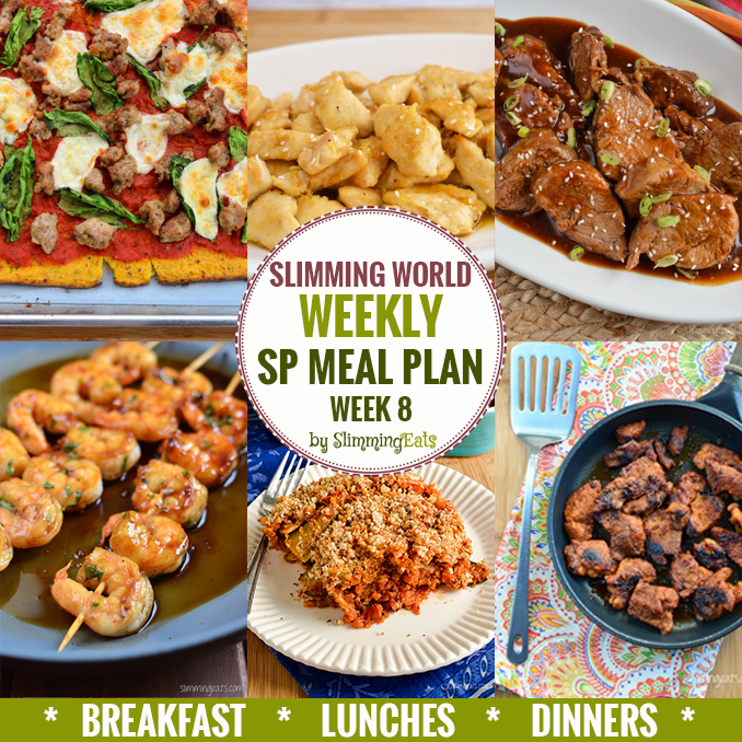 Slimming eats sp weekly meal plan week 8 slimming world recipes Slimming world meal ideas