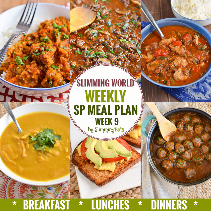 Slimming Eats SP Weekly Meal Plan - Week 9 - Slimming World - taking the work out of planning so that you can just cook and enjoy the food