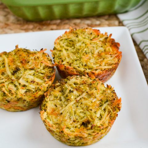Broccoli Cheddar Hash Brown Muffins