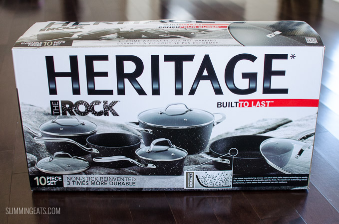 Slimming Eats - Starfrit Heritage the Rock 10 Piece Pan Set Review