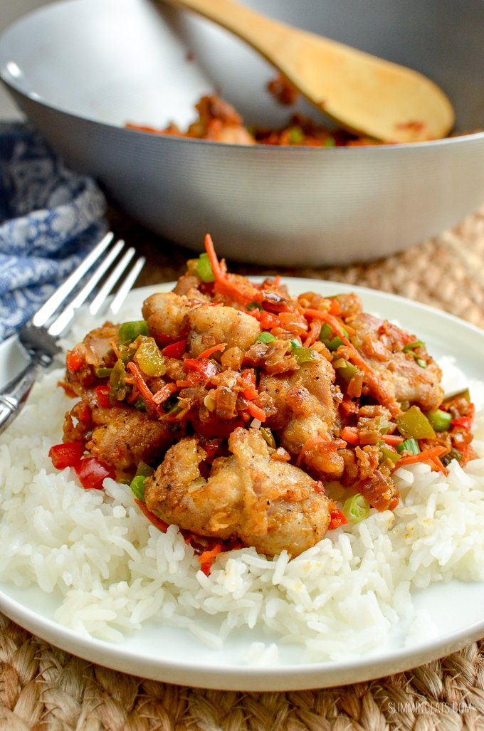 Low Syn Salt and Pepper Chicken - create this popular Chinese dish in your own home, perfectly SlimmingWorld friendly | gluten free, dairy free, Slimming World and Weight Watchers friendly