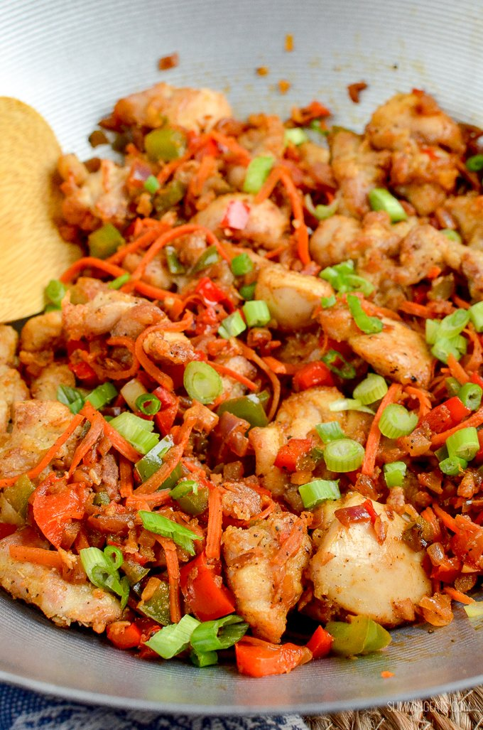Low Syn Salt and Pepper Chicken - create this popular Chinese dish in your own home, perfectly Slimming World friendly | gluten free, dairy free, Slimming World and Weight Watchers friendly