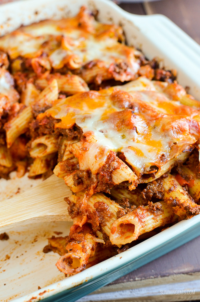 Syn Free Sloppy Joe Pasta Bake - gluten free, Slimming World and Weight Watchers friendly