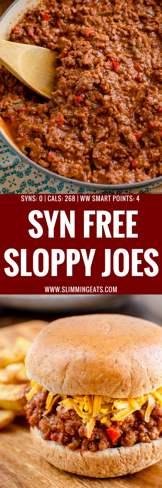 There is nothing more comforting and hearty than some Sloppy Joes mixture, sandwich between bread and some cheese. It's a sweet tangy delicious combination and the whole family will love it. | www.slimmingeats.com
