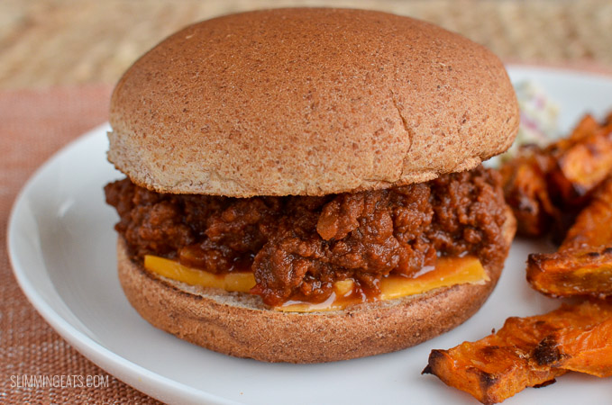 Slimming Eats Syn Free Sloppy Joes - dairy free, Instant Pot, Slimming World and Weight Watchers friendly
