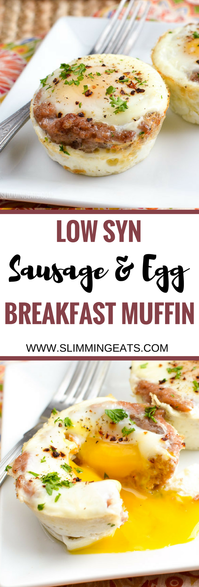 Slimming Eats - Low Syn Sausage and Egg Breakfast Muffins - gluten free, dairy free, paleo, Slimming World and Weight Watchers friendly