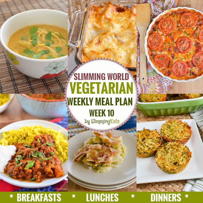 Slimming eats vegetarian weekly meal plan week 10 slimming eats slimming world recipes Slimming world meal ideas