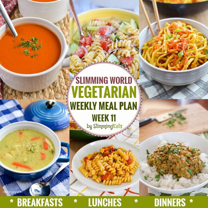 Slimming Eats Vegetarian Weekly Meal Plan – Week 11