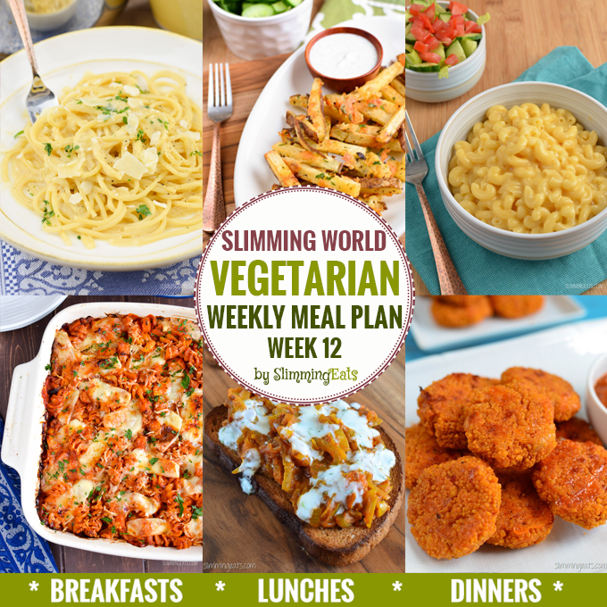 Slimming eats vegetarian weekly meal plan week 12 slimming eats slimming world recipes Slimming world meal ideas