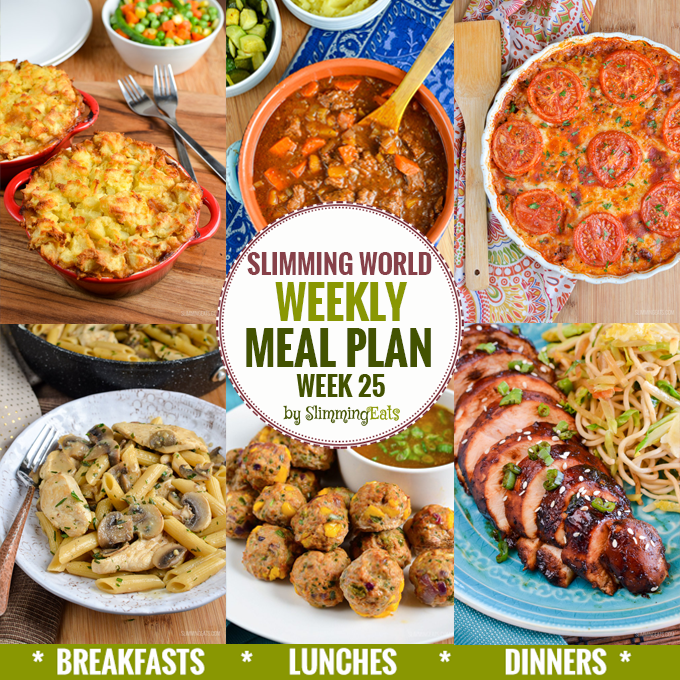 Slimming Eats Weekly Meal Plan - Week 25 - Slimming World Recipes - taking the work out of meal planning, so that you can just cook and enjoy the food.
