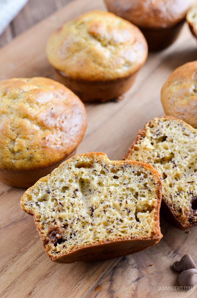 Muffins aux pépites de chocolat à la banane et à la banane Low Syn