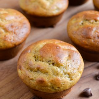 Low Syn Banana Chocolate Chip Muffins