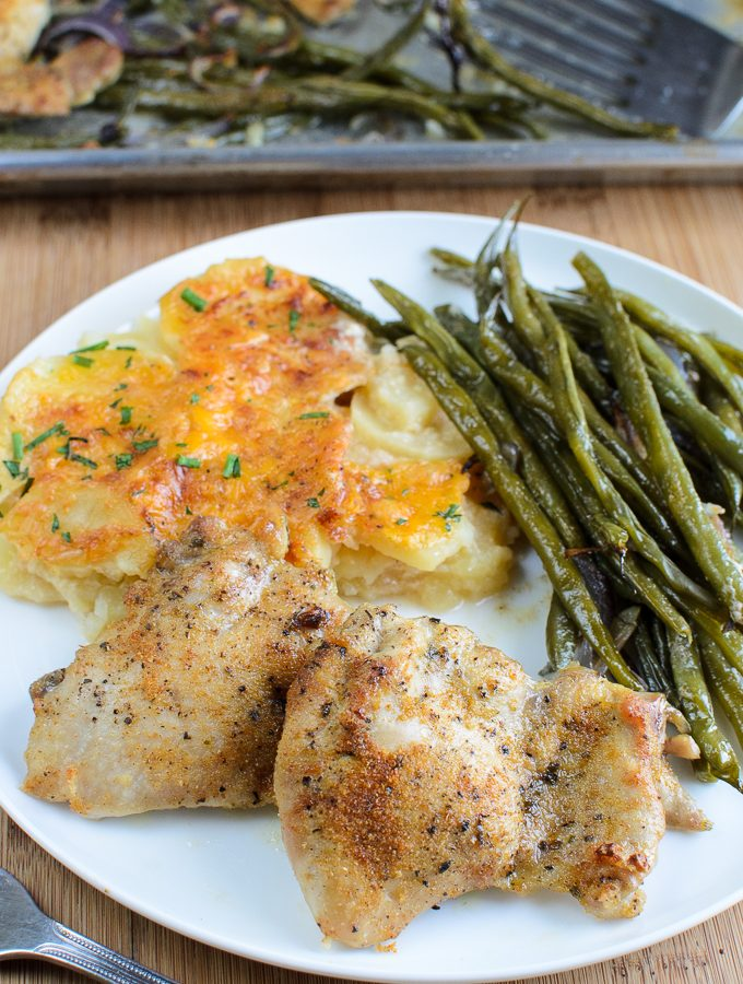Syn Free Garlic Chicken and French Bean Tray Bake