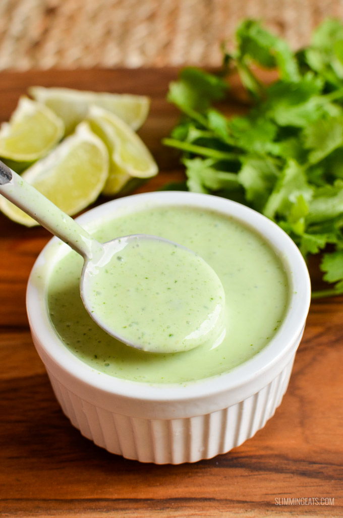 Slimming Eats Syn Free Cilantro Lime Dressing - gluten free, vegetarian, Slimming World and Weight Watchers friendly