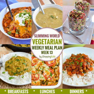Slimming Eats Vegetarian Weekly Meal Plan – Week 13