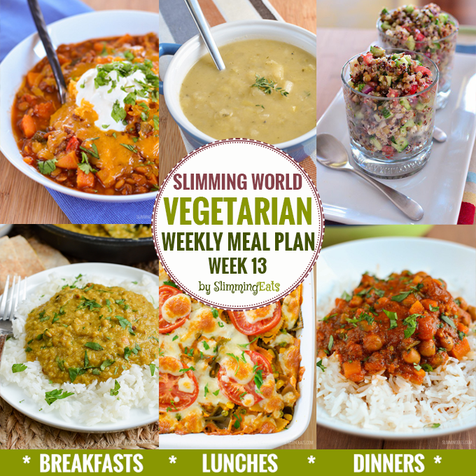 7 day menu weekly meal plans slimming eats slimming world recipes Slimming world meal ideas