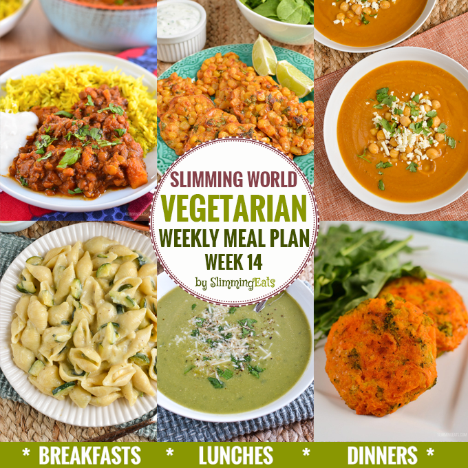 Slimming Eats Vegetarian Weekly Meal Plan - Week 14 - Slimming World Recipes - taking the work out of planning so that you can just cook and enjoy the food