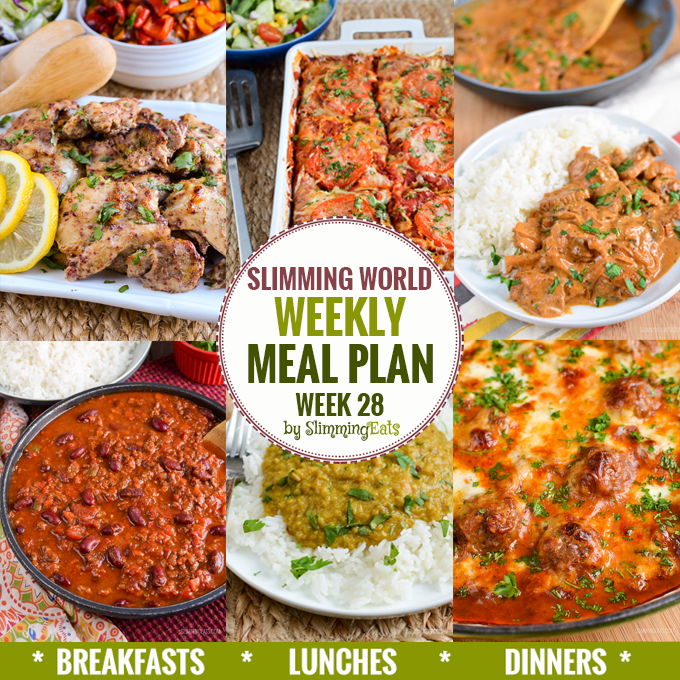 Extra Easy Slimming World Weekly Meal Plans Slimming Eats