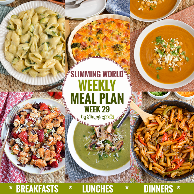 Slimming Eats Weekly Meal Plan – Week 29