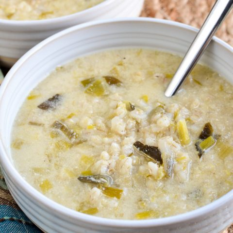 Creamy Leek and Pearl Barley Soup