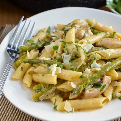 Syn Free One Pot Chicken and Asparagus Pasta