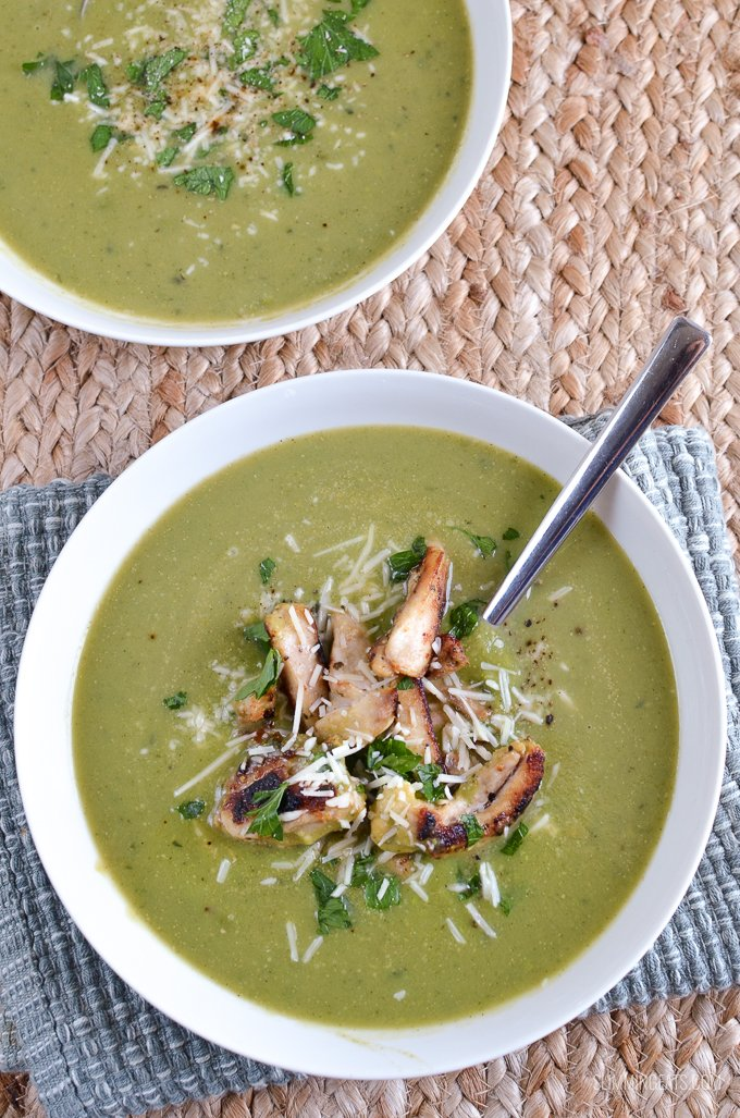 Slimming Eats Syn Free Pea and Zucchini Soup - gluten free, dairy free, vegetarian, Slimming World and Weight Watchers friendly