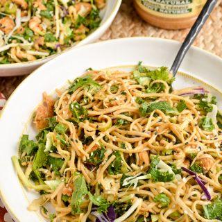 Peanut Chicken Noodle Salad Bowl