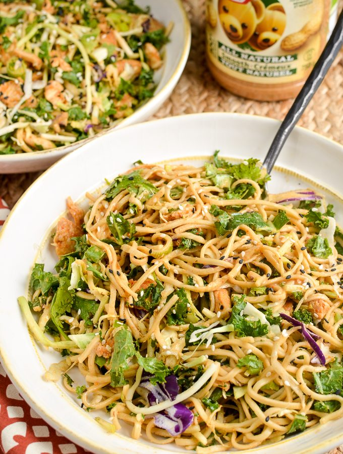 Peanut Chicken Noodle Salad Bowl