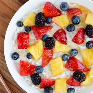 Pearl Barley Greek Yoghurt Breakfast Bowl