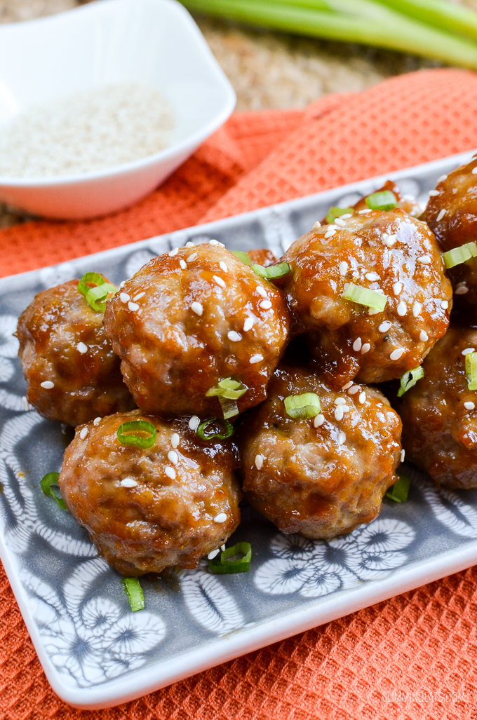 Slimming Eats Apricot Chicken Meatballs - gluten free, dairy free, Slimming World and Weight Watchers friendly