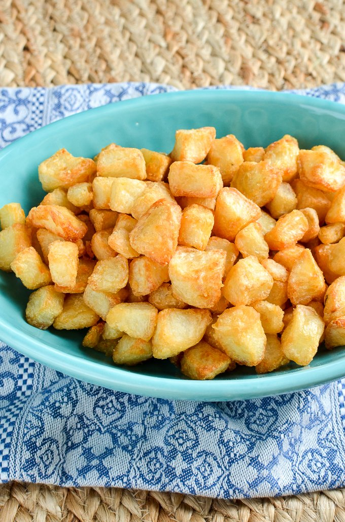 Slimming Eats Syn Free Extra Crispy Potatoes - gluten free, dairy free, vegetarian, Slimming World and Weight Watchers friendly