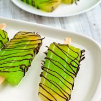 Lime Chocolate Drizzle Popsicles