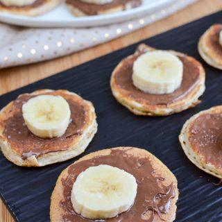 Mini Chocolate Banana Pancakes