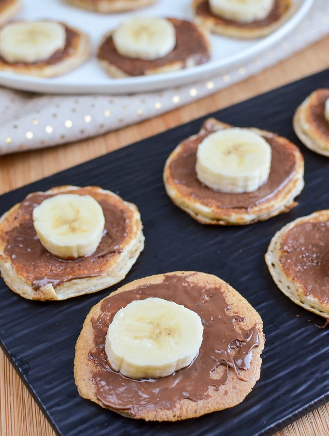 Mini Chocolate Banana Pancakes