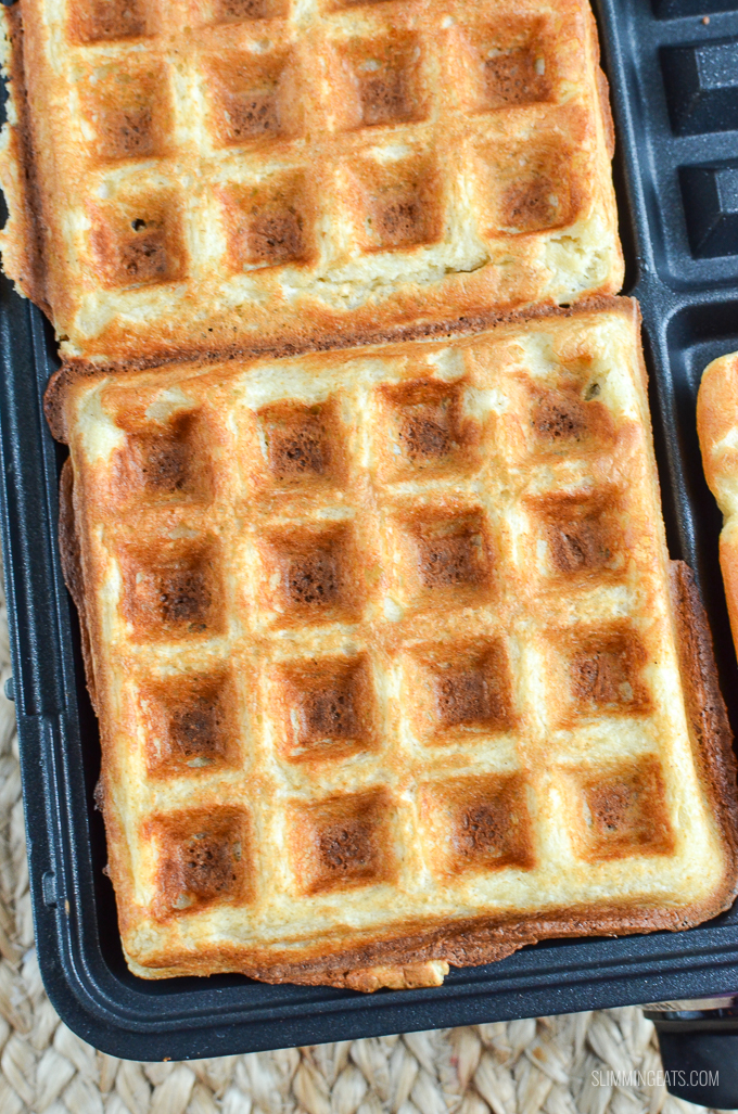 Syn Free Classic Belgian Waffles - gluten free, vegetarian, Slimming World and Weight Watchers friendly