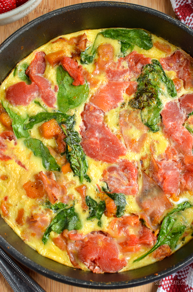 Slimming Eats Syn Free Speedy Breakfast Frittata - gluten free, dairy free, Slimming World and Weight Watchers friendly