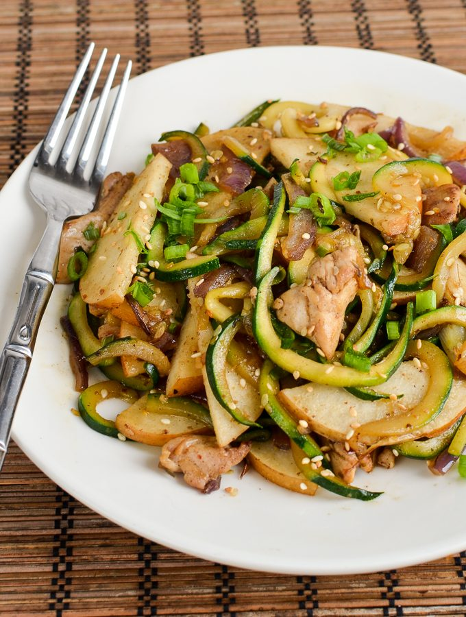 Syn Free Chicken Zoodle Stir Fry