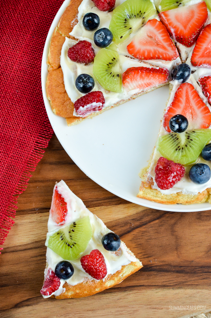 Slimming Eats Low Syn Fruit Pizza - gluten free, vegetarian, Slimming World and Weight Watchers friendly