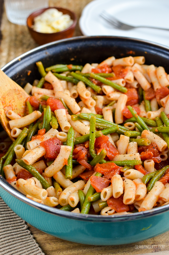 Syn Free Green Bean Pasta brought to you by Slimming World USA - gluten free, dairy free, vegetarian and Slimming World friendly