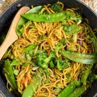 Quick Hoisin Vegetable Noodle Stir Fry