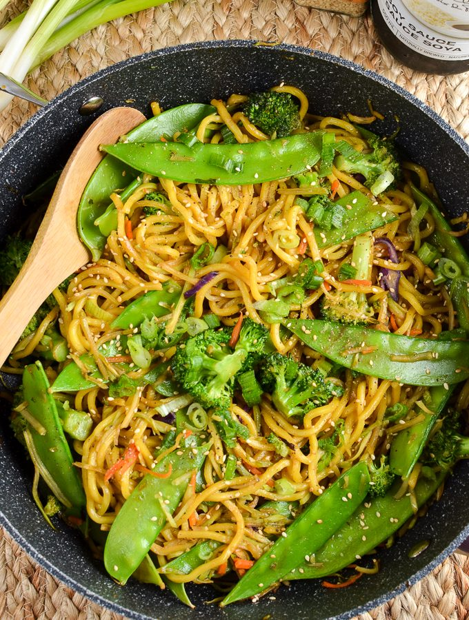 Quick Hoisin Vegetable Noodle Stir Fry