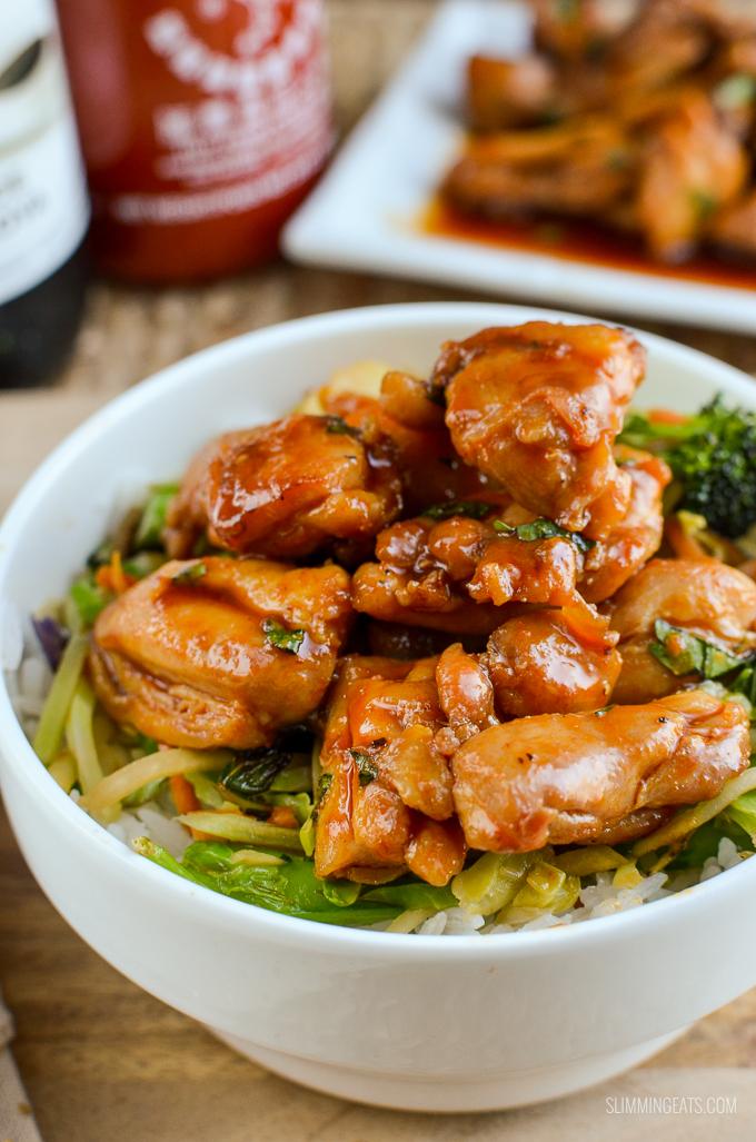 Slimming Eats Quick Sriracha Chicken - gluten free, dairy free, Slimming World and Weight Watchers friendly