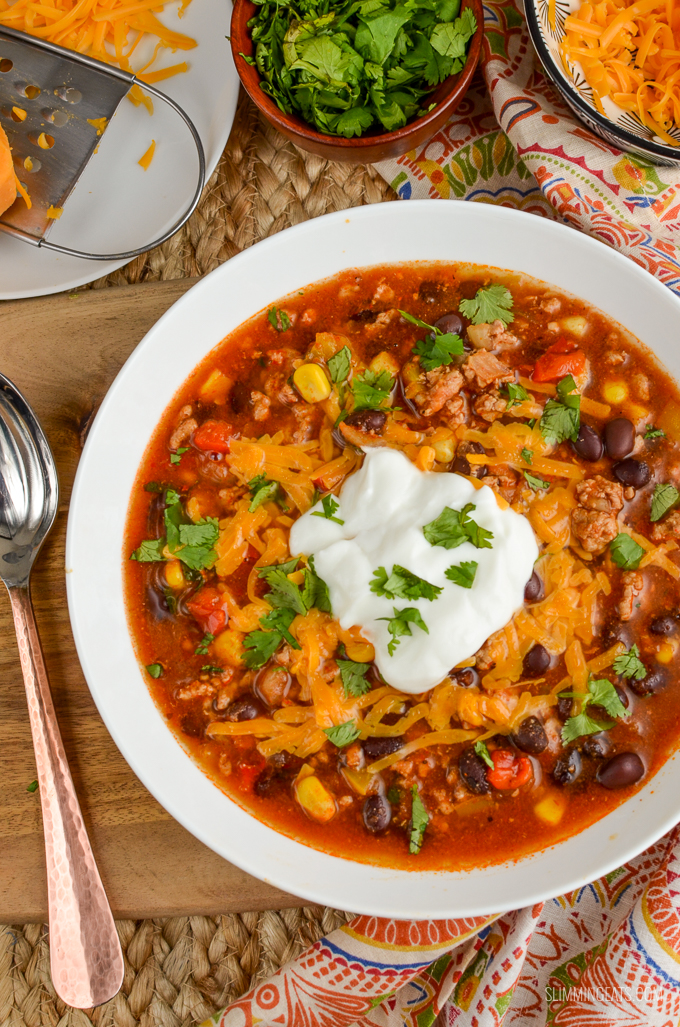 Slimming Eats Syn Free Instant Pot Turkey Taco Soup - gluten free, dairy free, Slimming World and Weight Watchers friendly