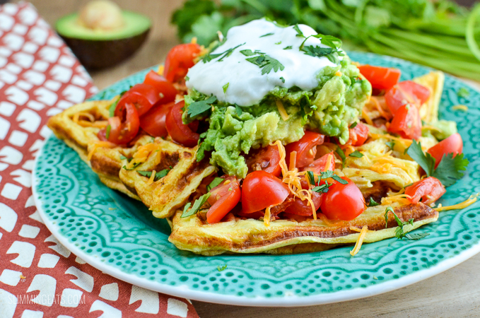 Slimming Eats Easy Syn Free Waffle Omelette - gluten free, vegetarian, Slimming World and Weight Watchers friendly